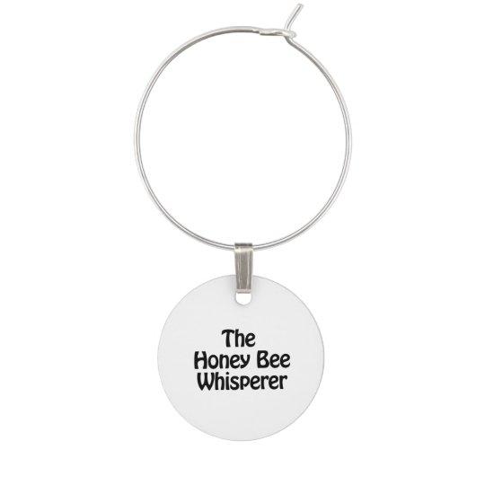 the honey bee whisperer wine charm