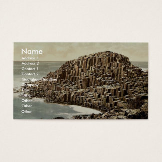 The Honeycombs. Giant's Causeway. Co. Antrim, Irel Business Card