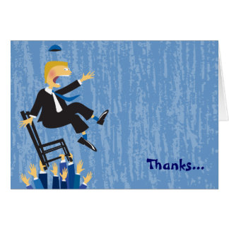 The Hora Chair Dance Folded Thank You Card