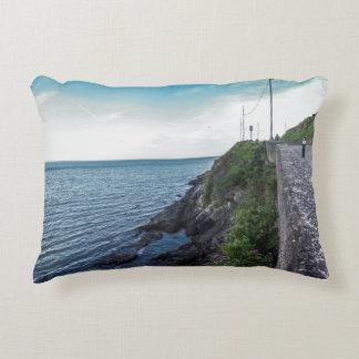 The horizon over the Irish sea Accent Pillow