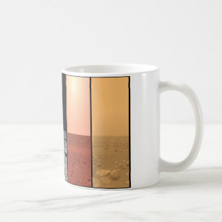 The horizons of Venus Earth Moon Mars and Titan Coffee Mug