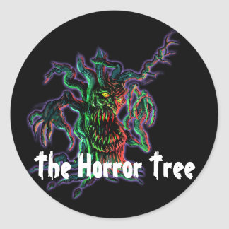 The Horror Tree Round Sticker