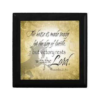 The Horse is made ready Proverbs 21:31 Scripture Gift Box