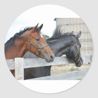 The Horse Lovers Classic Round Sticker