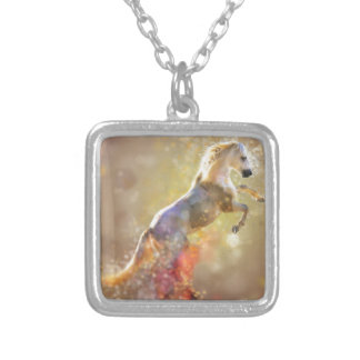 the-horse silver plated necklace