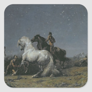 The Horse Thieves 19th century Square Sticker