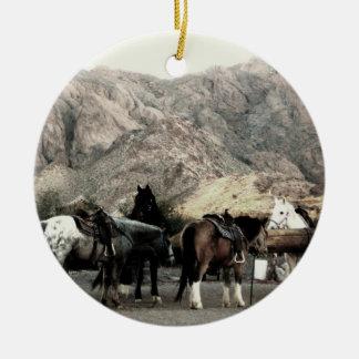 the Horses Ceramic Ornament