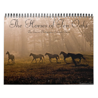 The Horses of Ten Oaks Wall Calendar