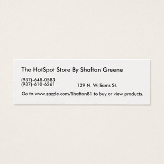 The HotSpot Store By Shafton Greene Mini Business Card