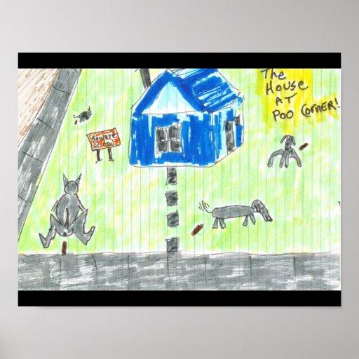 The House at Poo Corner Print