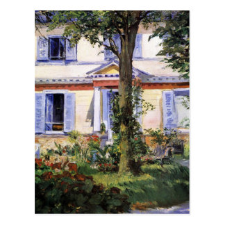The House at Rueil by Edouard Manet Postcard