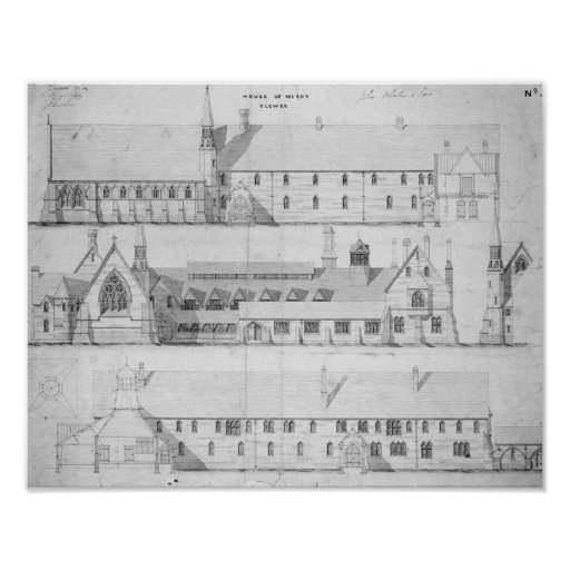 The House of Mercy, Clewer, c.1853 Print