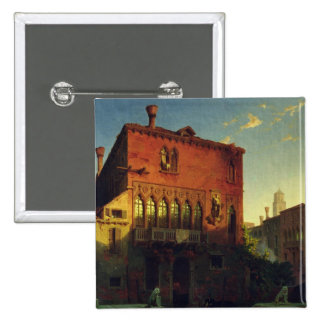 The House of Othello, the Moore in Venice, 1856 2 Inch Square Button