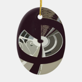 THE HOUSE OVER THE ROAD CERAMIC OVAL ORNAMENT