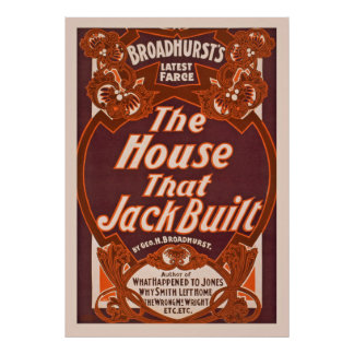 The House That Jack Built Vintage Performing Arts Poster