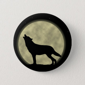 The Howling Wolf in the Night 2 Inch Round Button