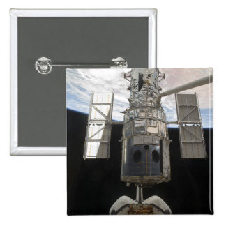 The Hubble Space Telescope is released 2 Inch Square Button