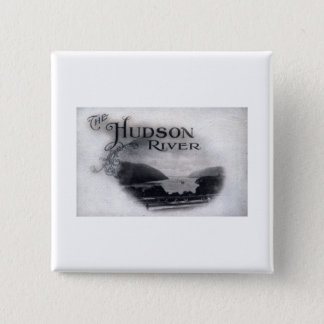 The Hudson River, New York, 1921 Vintage 2 Inch Square Button