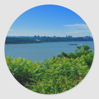 The Hudson River with NYC Classic Round Sticker