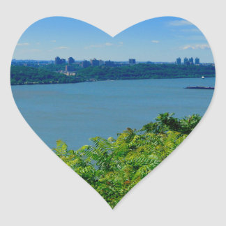 The Hudson River with NYC Heart Sticker