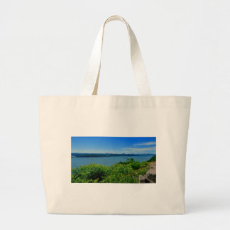 The Hudson River with NYC Large Tote Bag