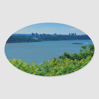 The Hudson River with NYC Oval Sticker