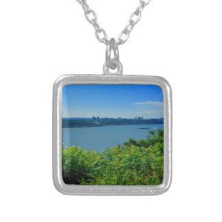 The Hudson River with NYC Silver Plated Necklace