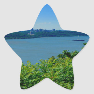 The Hudson River with NYC Star Sticker