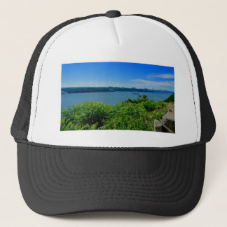 The Hudson River with NYC Trucker Hat