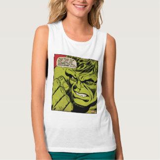 "The Hulk ""Challenge"" Comic Panel Flowy Muscle Tank Top"