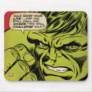 "The Hulk ""Challenge"" Comic Panel Mouse Pad"