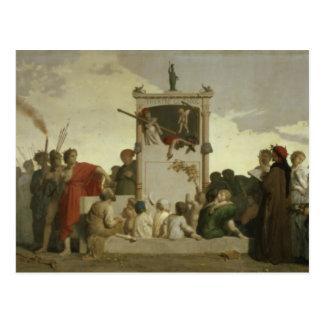 The Human Comedy, c.1852 Postcard