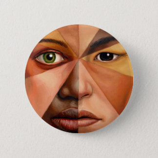 The Human Face 2 Inch Round Button