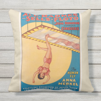 The Human Fly Circus Poster Pillow