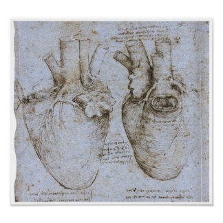 The Human Heart, Leonardo da Vinci Poster