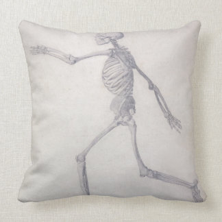 The Human Skeleton, lateral view, from the series Throw Pillow