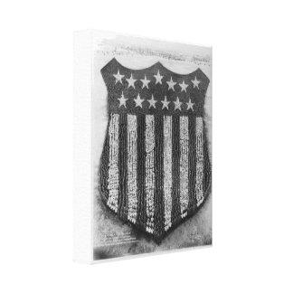 The Human U.S. Shield at Camp/Fort Custer Print