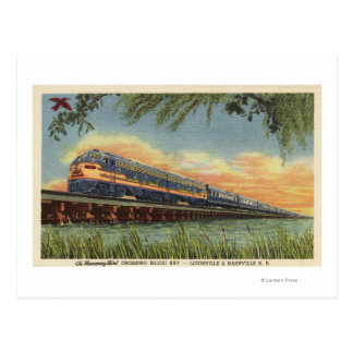 The Humming Bird Railroad Train Postcard