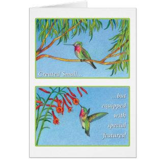 The Hummingbird - Psalms 34:8 NET Card