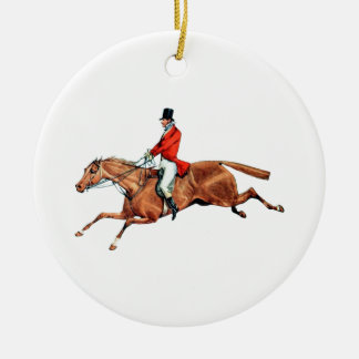 The Hunt Illustration Ceramic Ornament