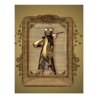The hunter, funny, cute gecko with gun personalized letterhead