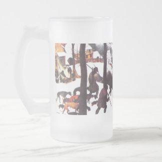 """ The Hunters in the Snow"" Fine Art Christmas Mug"