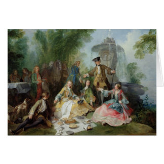 The Hunting Party Meal, c. 1737 Greeting Card