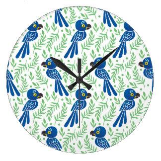 The Hyacinth Macaw Pattern Clocks