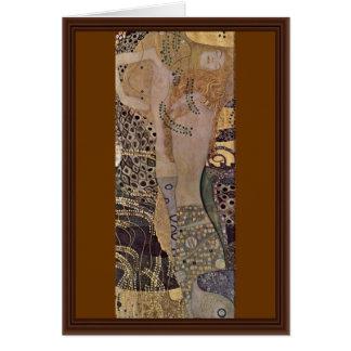 The Hydra By Klimt Gustav Card