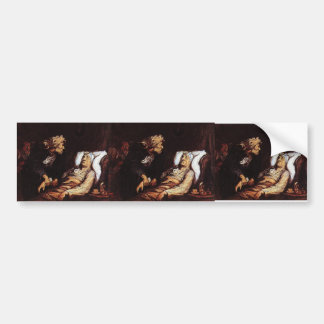 The Hypochondriac by Honore Daumier Bumper Stickers