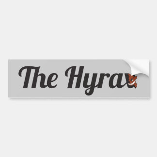 The Hyrax Bumper Sticker