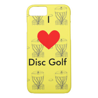 The I ♥ Disc Golf Iphone case/cover iPhone 7 Case