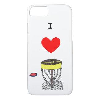 The I heart disc golf Iphone 7 & 8 phone case