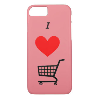 The I ♥ shopping cart Iphone case